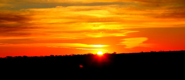 Sunset North of Bourke on the Matilda Highway
