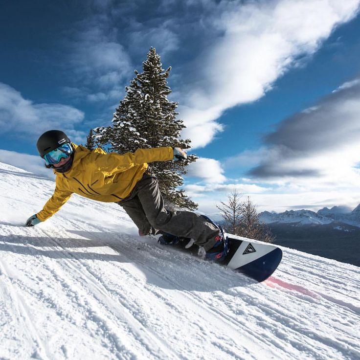 фото человека на сноуборде