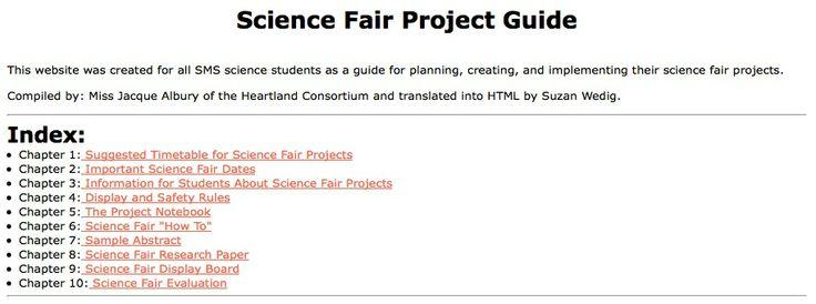 Zeer praktische informatie, inclusief tijdsplanning voor het organiseren en plannen van wetenschappelijke projecten tijdens het schooljaar.