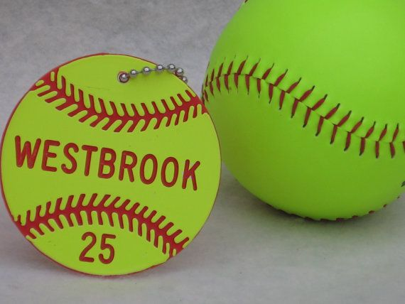 Softball Gifts / Softball Team Gifts / Softball Bag Tags / Girls Softball Gifts