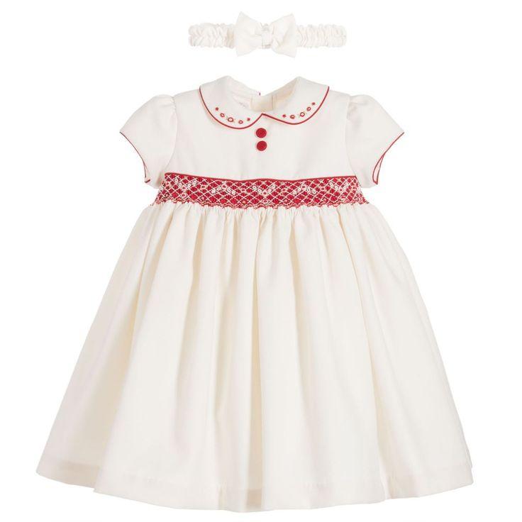 Pretty Originals Girls Ivory Hand Smocked Dress at Childrensalon.com