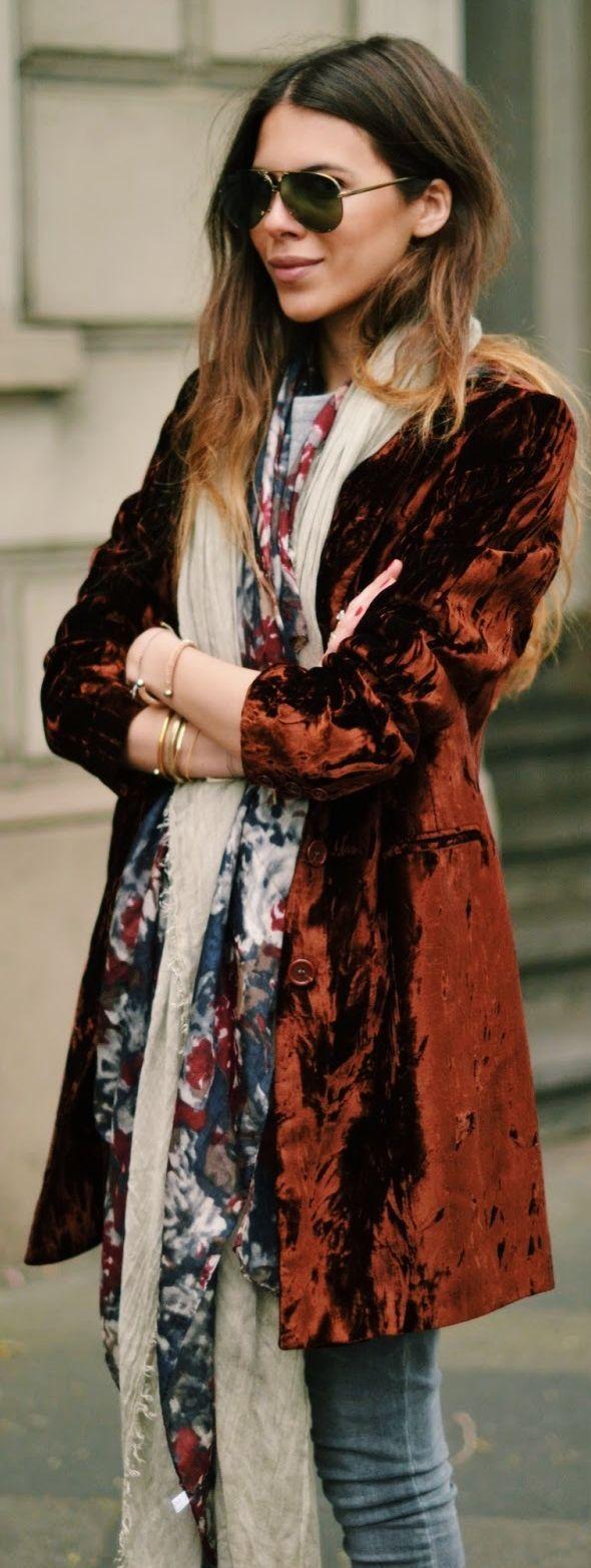 Yumi Mazao Red Velvet Long Blazer #Blazer                                                                                                                                                     More