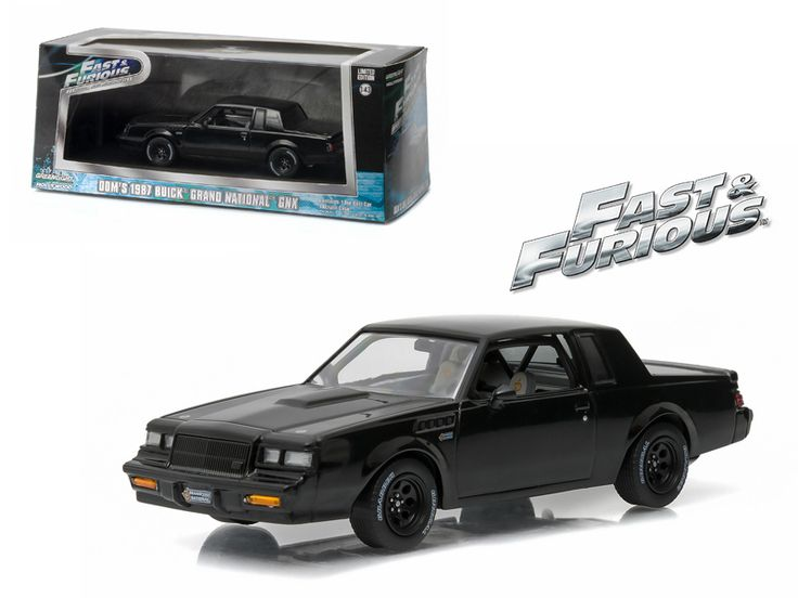 "Dom's 1987 Buick Grand National GNX ""The Fast and the Furious"" Movie (2009 ) 1/43 Diecast Model Car by Greenlight - Brand new 1:43 scale diecast car model of Dom's 1987 Buick Grand National GNX ""The Fast and the Furious"" Movie (2009 ) die cast car model by Greenlight. Rubber tires. Brand new box. Limited Edition. Detailed interior, exterior. Comes in plastic display showcase. Dimensions approximately L-5 inches long.-Weight: 1. Height: 5. Width: 9. Box Weight: 1. Box Width: 9. Box Height: 5…"