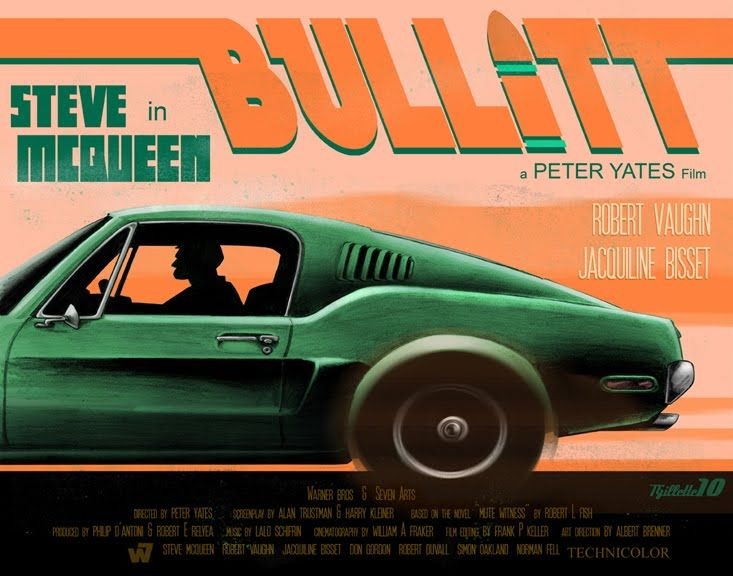Bullitt. 1968. Tim Gillette design. | Bullitt movie, Steve mcqueen style, Steve mcqueen