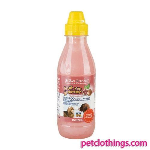 Shampoo per Cani a pelo medio - Shampoo per Cani alla fragranza di Pompelmo Rosa, specifico per cani dal pelo medio; conferisce al manto del cane una piacevole profumazione naturale