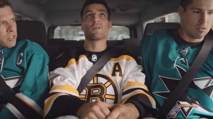 Bergeron doesn't want to hear Sharks bicker in new Visa ad