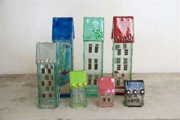 Glashuse i mange farver