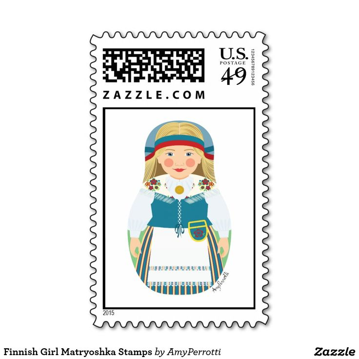 Finnish Girl Matryoshka Stamps