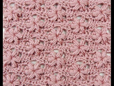 Crochet: Punto Puff con Flor Variación