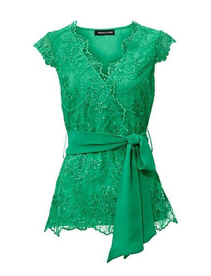 Patrizia-Dini-Kanten-topje groen tshirt top shirt green lace