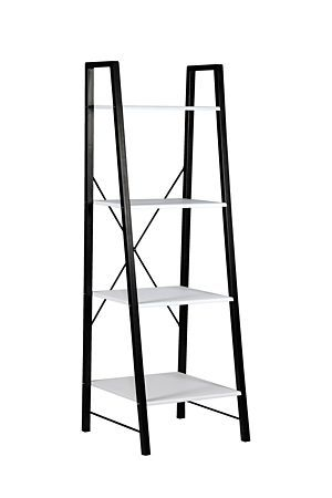 Our cross back ladder shelf is a stylish shelving unit that will work well in any home or office setting.