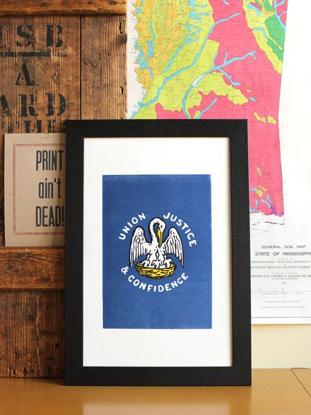 The Pelican & Her Piety | Louisiana Letterpress Print - Old Try - ´X°