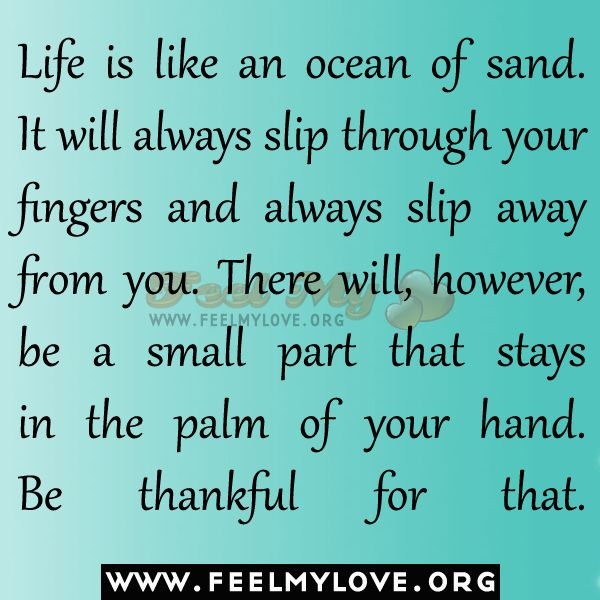 Life Is Like The Ocean Quotes: Life Is Like An Ocean Of Sand