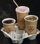 F S F 4-Cup Beverage Carriers(742010) by F S F. $32.14. BEVERAGECARRIER4 4Cup Beverage Carriers for ball game concession stands and foodservice establishments CarrySafe cup and beverage carriers are made from 100 recycled paper They can carry beverages only or food and beverages They hold a wide variety of cup sizes from 8 oz to 44 oz Strong and ready to use These drink carriers are great for ballgames concession stands restaurants and other outdoor events PACTIV MOLDED FIBR...
