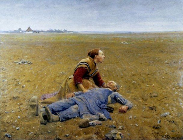 Socialrealisme - Forladt af Frants Henningsen.