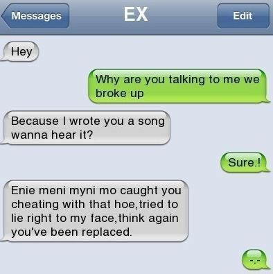 Funny Text Messages Bf/Gf | Awesome Song for her ex-boyfriend » Cool Pixx