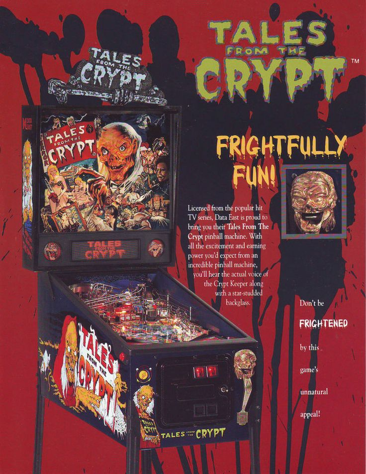 Data East TALES FROM THE CRYPT 1993 Original NOS Flipper Pinball Machine Flyer #DataEastTalesFromTheCrypt