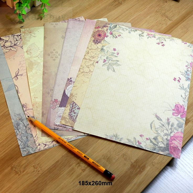 Cheap letter paper, Buy Quality writing paper directly from China letter writing paper Suppliers: 80sheets Retro European Style Letter Paper 8 Patterns Romantic Vintage Love letter Greetings Writing Paper