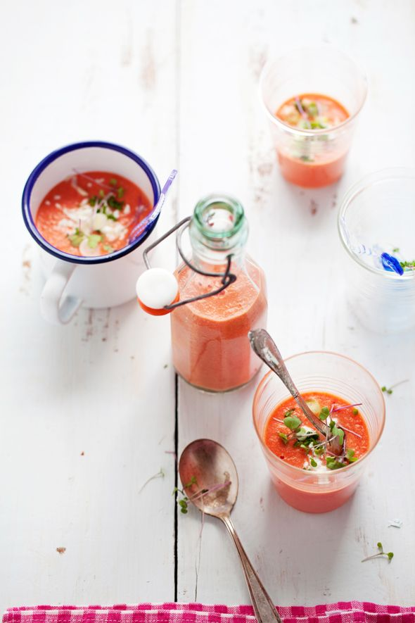 Watermelon, tomato and almond gazpacho from 'Small Plates and Sweet Treats' by @Aran Goyoaga