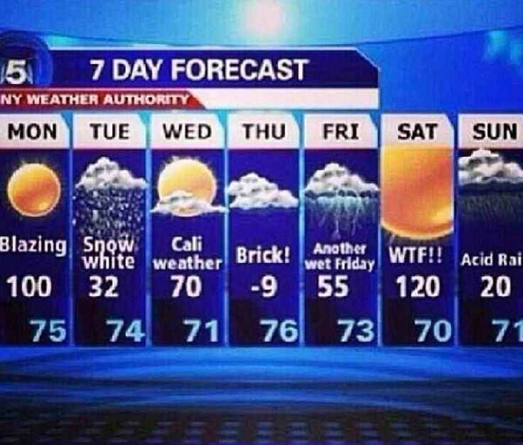 Typical Chicago weather forecast lol!