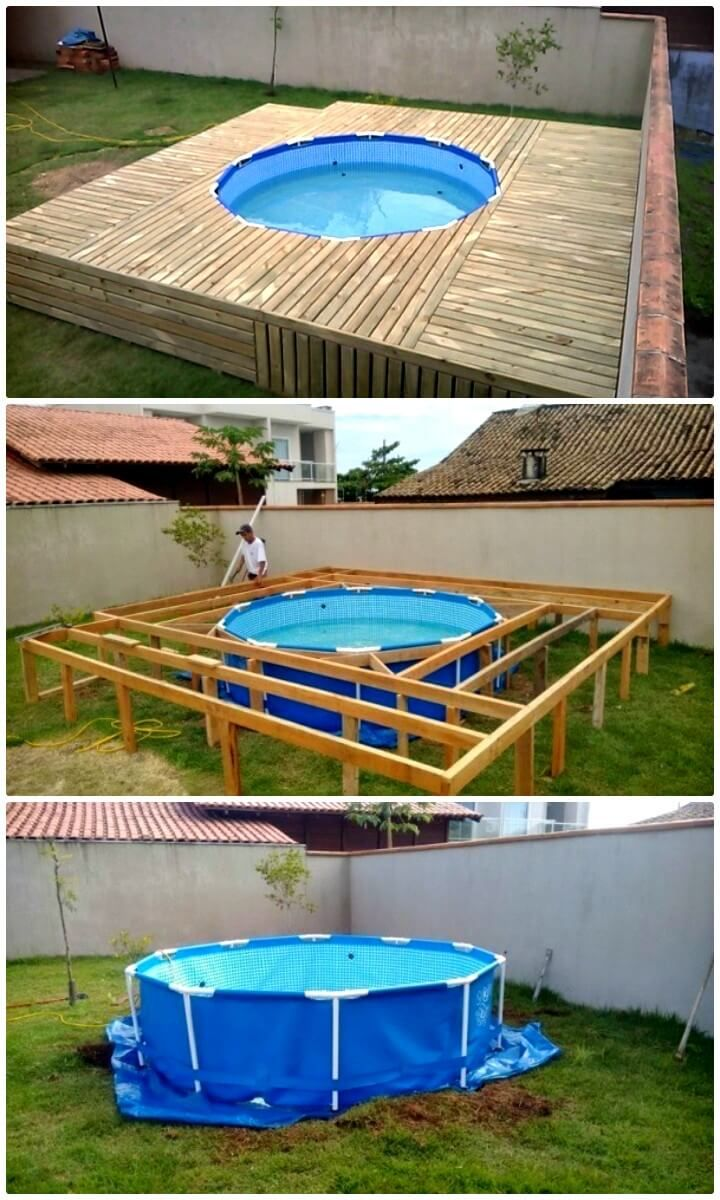 How To Make Swimming Pool Inexpensive Project Pallet