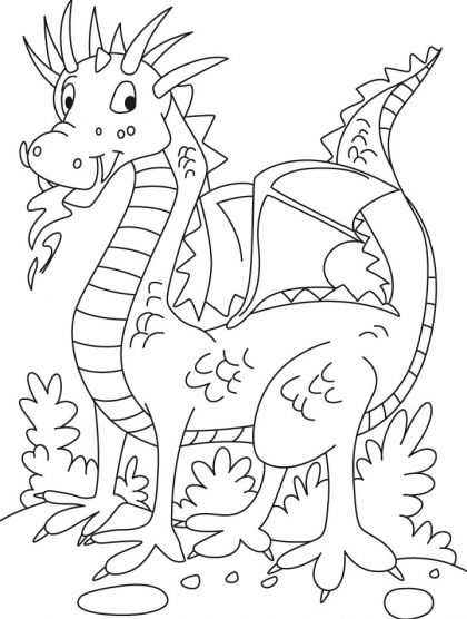 No companion, but this dragon is in playful mood coloring pages