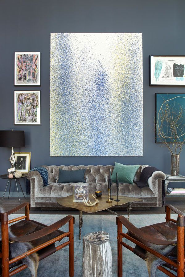 Brooklyn home of interior designer, Athena CalderoneWall Colors, Living Rooms, Modern Art, Harpers Bazaars, Colors Art, Interiors Design, Brooklyn Apartments, South Shore Decor, Wall Colours