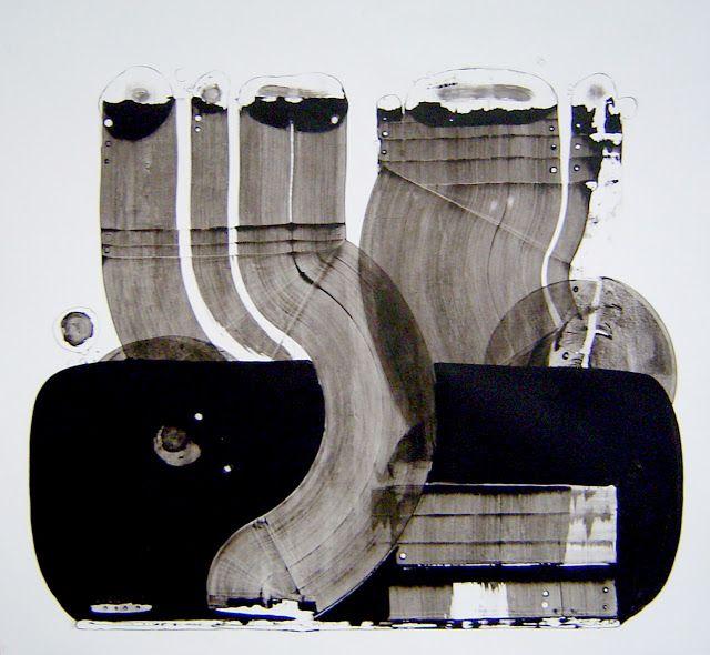 Takt los IIII,  Acrylic on paper / 151x163cm / 2010