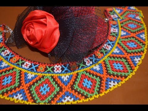 Колье из бисера. Бисероплетение. Мастер класс / Necklaces of beads. Beading. Master Class - YouTube