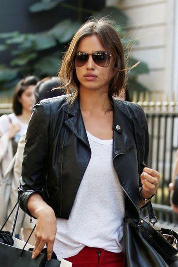 Irina Shayk con gafas de sol Gucci