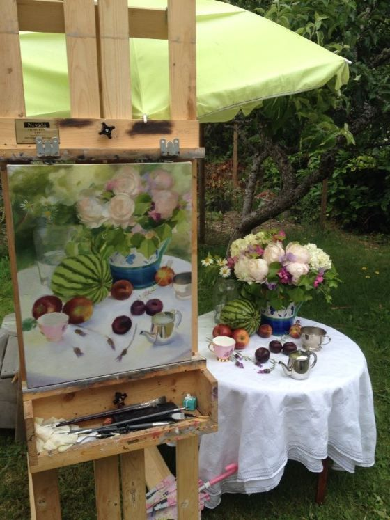 Learn to paint a still life in oils...