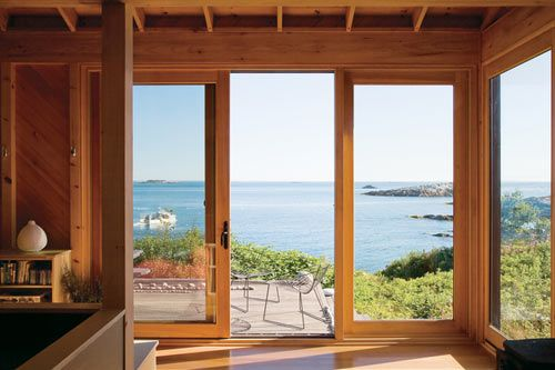 windows/doors -- Alex Scott Porter's cottage in Maine
