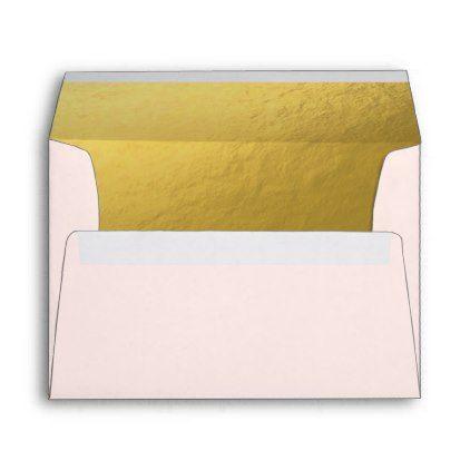 Pink and Gold Envelope Elegant Birthday Girl - birthday gifts party celebration custom gift ideas diy