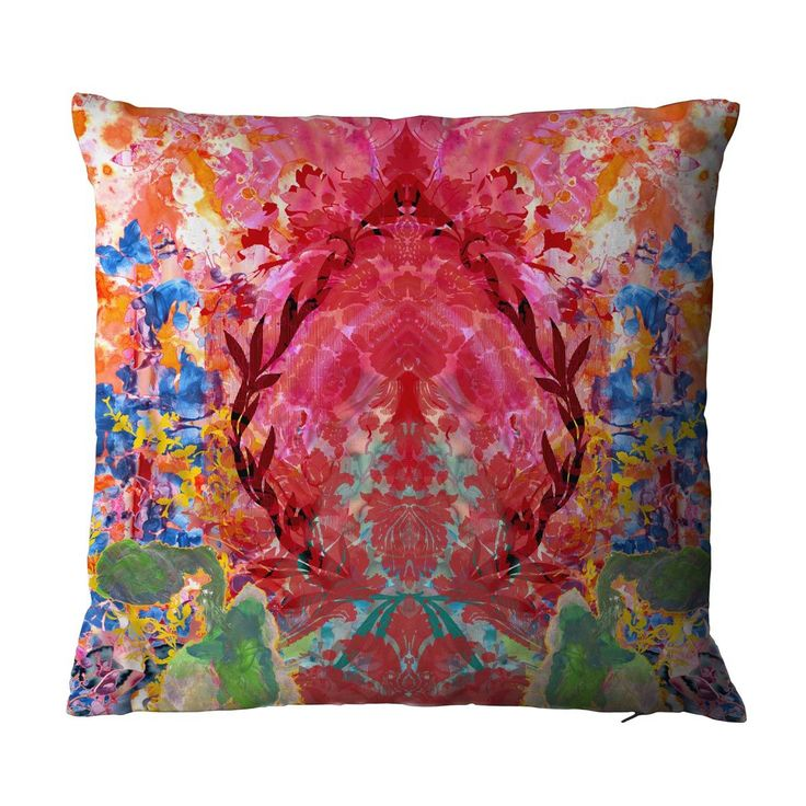 Eastern Smudge Damask cushion