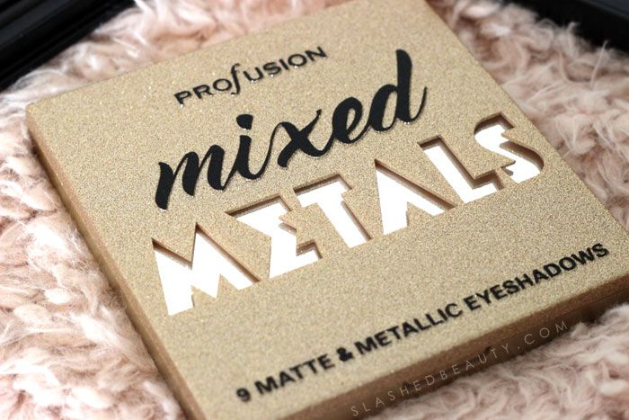 Mixed Metals Palette / Drugstore Metallic Eyeshadow: Discover new drugstore makeup: Profusion Cosmetics! Check out these reviews & swatches of the must-have palettes.   Slashed Beauty