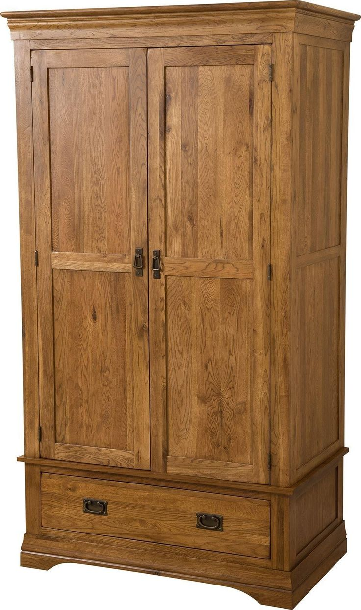 French Chateau Rustic Double Solid Oak Wardrobe - Was £1,152.00 now £589