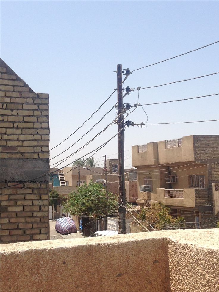 Hot summer day, from roof terace in a little neghbor in Baghdad