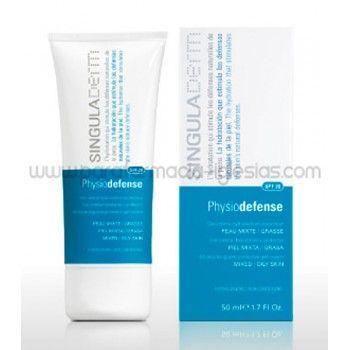 Singuladerm Physiodefense SPF20 50ml Piel Mixta-Grasa. Crema hidratante facial para piel mixta o grasa con protección solar.