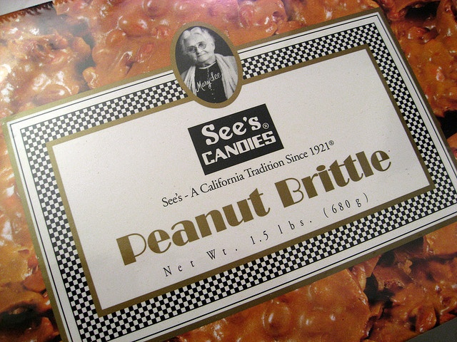 See's Peanut Brittle -- my favorite candy- super delicious