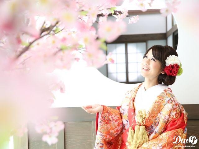 屋内庭園ロケーションフォト 結婚写真 和装前撮り 大阪 フォトウエディング専門フォトスタジオのスタジオTVB