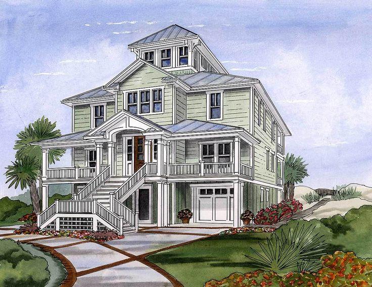 Best 25 beach house plans ideas on pinterest beach for Outdoor elevators for beach houses