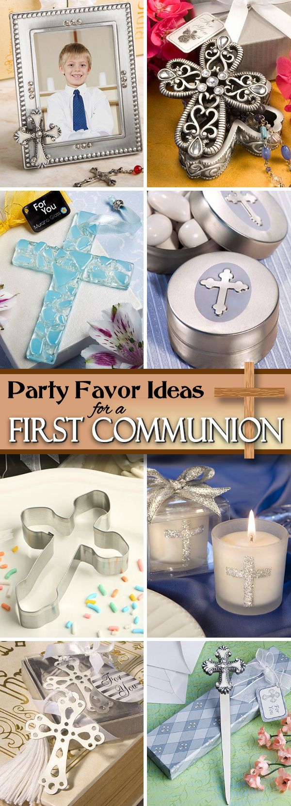 Celebrate first communion with the perfect religious theme party favors.