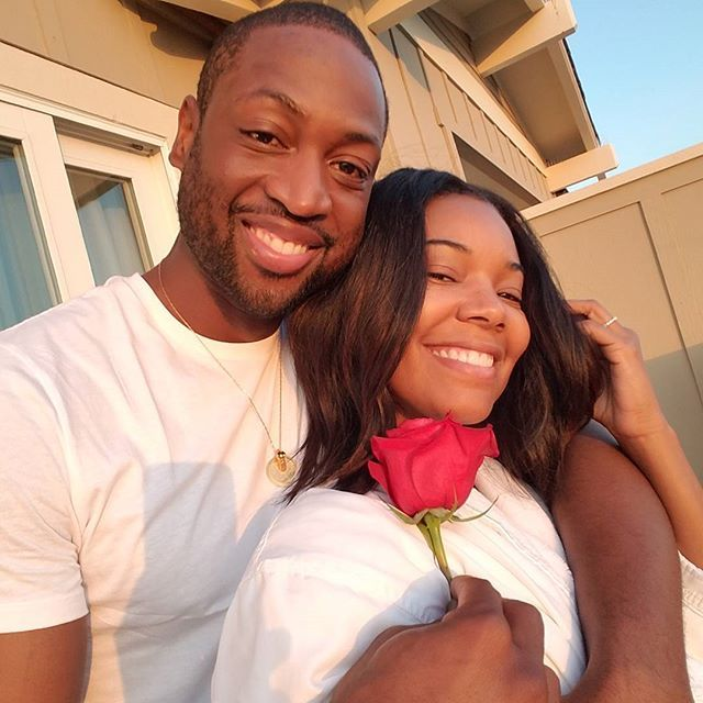 Pin for Later: All of Gabrielle Union and Dwyane Wade's Slam-Dunk Relationship Snaps  The couple enjoyed a romantic vacation in August 2016.