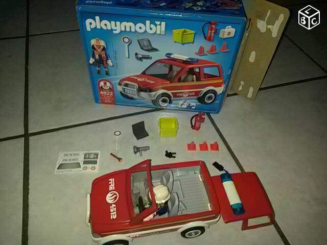 voiture pompier playmobil cadeau mani pinterest voiture pompier playmobil pompier. Black Bedroom Furniture Sets. Home Design Ideas