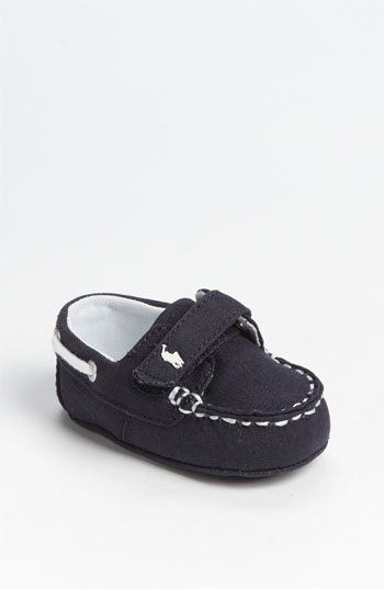 It's never too early to wear boat shoes. Ralph Lauren Layette Boat Shoe (Baby) available at Nordstrom.