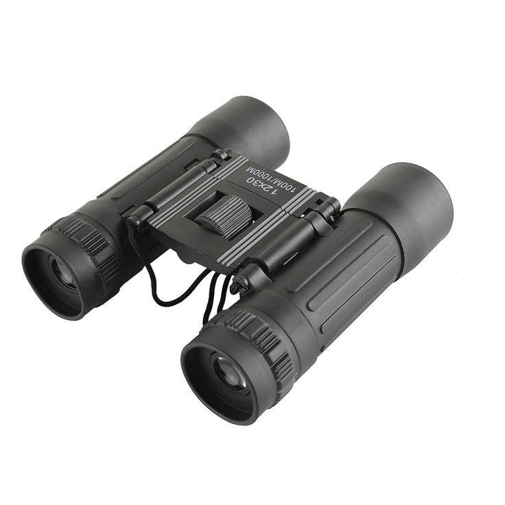 Hd Wide-angle Binoculars Telescope 12X30 Portable Red Membrane Optics Binocular for Hunting Mini Telescope Luneta Binoculos