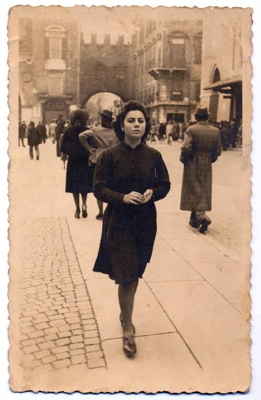 Ferrara, cartolina anni '40: Corso PortaReno