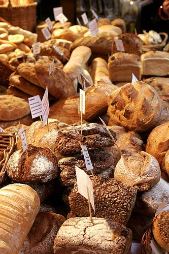 Bread at the Borough Market, London.   One of Just London's favourite food markets. Close to London Bridge and the River Thames it is a delightful way for foodies to spend some time.