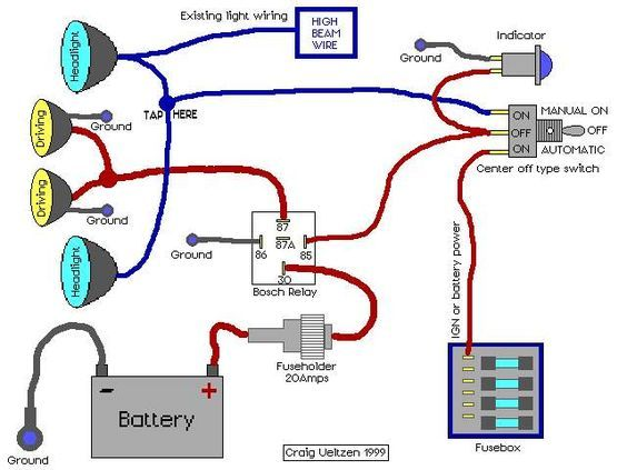 Electrical And Electronics Engineering Driving Lights Wired To High Beams Automotive Electrical Automotive Repair Electricity