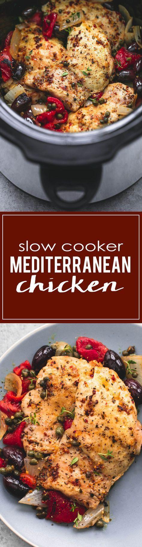 Slow Cooker Mediterranean Chicken | http://lecremedelacrumb.com
